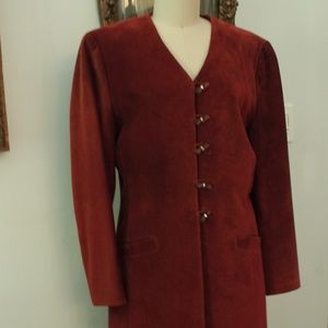 1980's Brown Suede Danier Suit Jacket and Skirt
